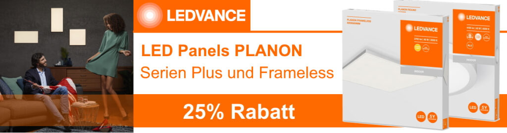 LEDVANCE Planon LED Panels Aktion