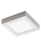 Preview: Eglo 32444 Fueva 1 LED Wand-/Deckenleuchte 12W 17x17cm Nickel