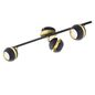 Mobile Preview: Eglo 95484 Nocito LED Spot 3x4W Stahl Schwarz Gold