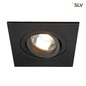 Preview: SLV 113450 NEW TRIA XL SQUARE GU10 Downlight mattschwarz max. 50W inkl. Clipfedern