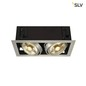 Preview: SLV 115556 KADUX 2 ES111 Downlight eckig alu brushed max. 2x75W