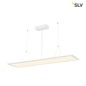 Preview: SLV 158723 I-PENDANT PRO LED Panel Pendelleuchte 1195x295mm mattweiss 230V 3000K