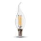 Preview: LED Filament E14 Kerze 4W 320Lm warmweiss dimmbar Windstoß