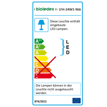 Bioledex PIXBO LED Deckenleuchte 24W Ø30cm 3000K Warmweiss
