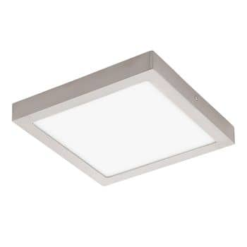 Eglo 32446 Fueva 1 LED Decken-/Wandleuchte 24W 30x30cm Nickel