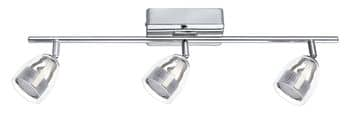 Eglo 93743 Pecero LED Spot 3x4.5W Stahl chrom transparent