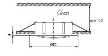Einbaurahmen für MR16 Deckeneinbauspot drehbar 12V inkl Fassung