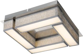 Globo 15185-12D Paco LED Deckenleuchte 12W Nickel matt warmweiss