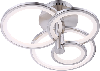 Globo 67065-4 Cringle LED Deckenleuchte 60W Nickel matt neutralweiss