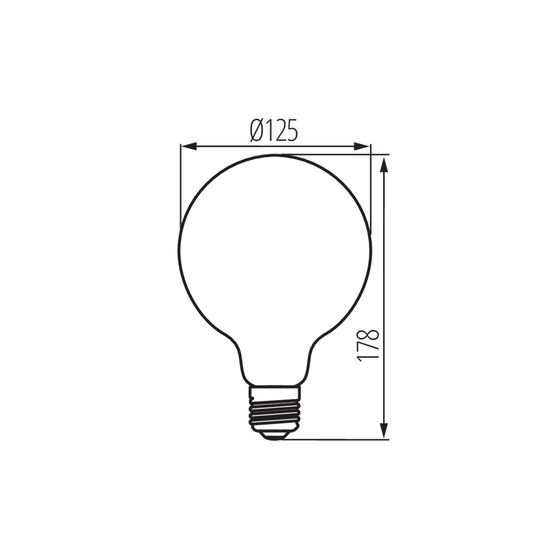 Kanlux 29645 XLED LED Filament Lampe E27 5W 1800K Extra-warmweiss
