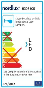 Nordlux LED Design-Wandleuchte IP S13 40 5.6W weiss