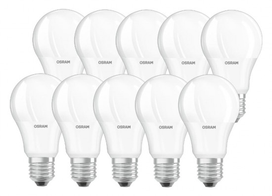 10er-Pack Osram Value LED Lampe E27 8.5W Warmweiß 2700K = 60W Glühbirne