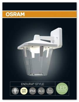 osram endura style classic down led wandleuchte 10w ip44 weiss. Black Bedroom Furniture Sets. Home Design Ideas