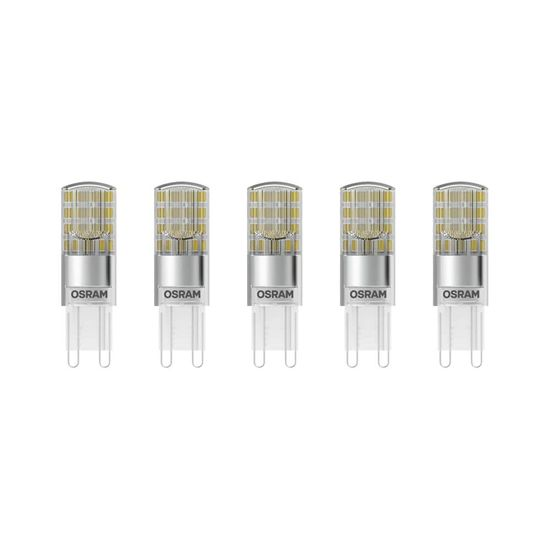 5er-Pack OSRAM BASE G9 PIN LED Stecklampe 2,6W 320Lm 2700K warmweiss wie 30W