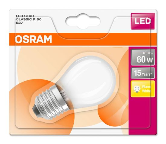 OSRAM STAR E27 P LED Lampe 6W 806Lm 2700K warmweiss wie 60W