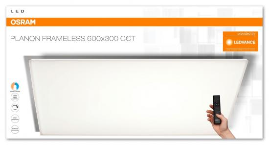 OSRAM Planon Frameless LED Panel 35W dimmbar 1900Lm 3000-5000K Weiß