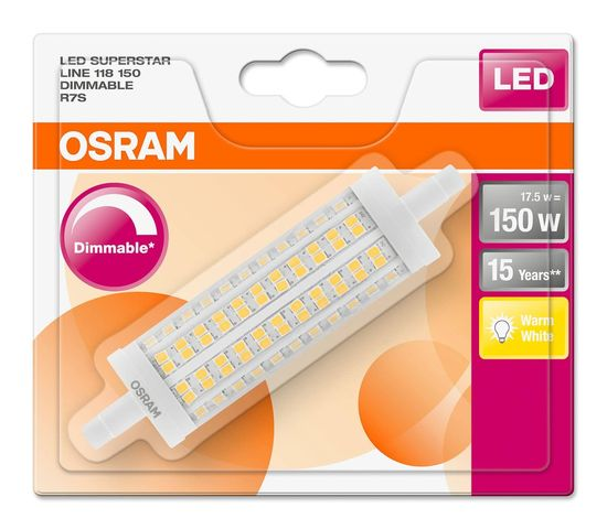 Osram LED SUPERSTAR R7s 17.5W dimmbar 2452Lm 2700K 4058075271975