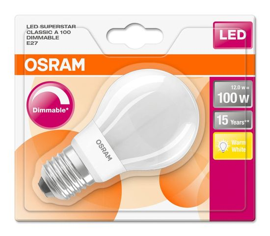 Osram LED SUPERSTAR E27 12W dimmbar 1521Lm 2700K 4058075288997