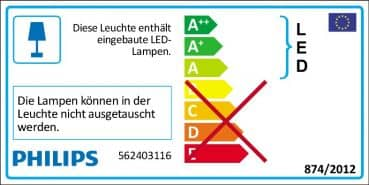 Philips myLiving Star LED Wandleuchte 4W Warmweiss 562403116
