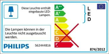 Philips myLiving Star LED Deckenleuchte dimmbar 4x45W Warmweiss 562444816