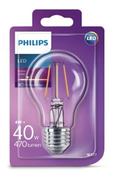 philips e27 led birne ledclassic 4w 470lm warmweiss hier kaufen. Black Bedroom Furniture Sets. Home Design Ideas