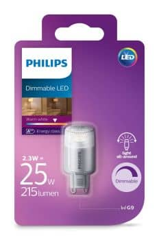 philips g9 led capsule lampe dimmbar 2 5w 204lm warmweiss. Black Bedroom Furniture Sets. Home Design Ideas