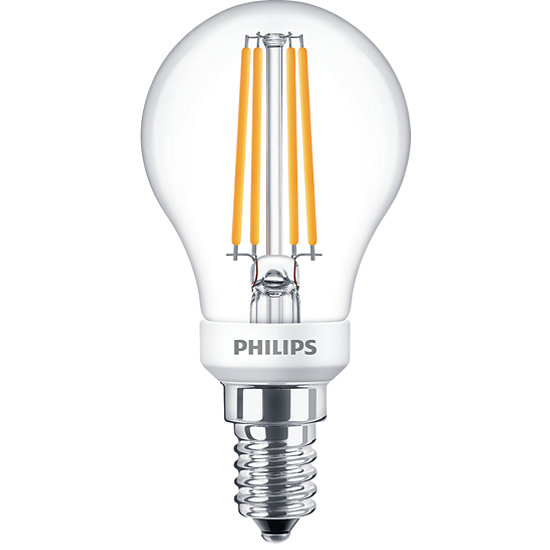 Philips Classic LED Lampe 5W E14 warmweiss P45 klar  dimmbar 8718696709900