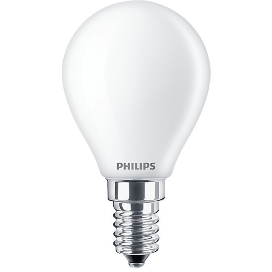 Philips Classic LED Lampe 6,5W E14 warmweiss P45 matt  8718699649289