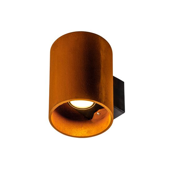 SLV 1004651 RUSTY UP/DOWN WL, Outdoor LED Wandleuchte rund rost CCT switch 3000/4000K IP65