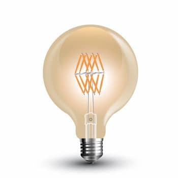 LED Filament E27 Globe 8W 800Lm extra-warmweiss amber gold 7145