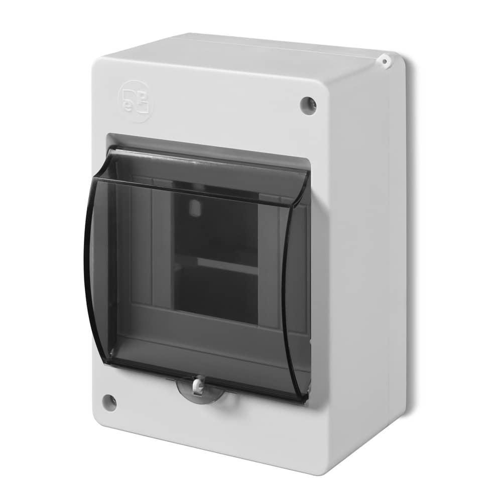 sicherungs kasten verteilerk asten 4 module aufputz ip30 ebay. Black Bedroom Furniture Sets. Home Design Ideas