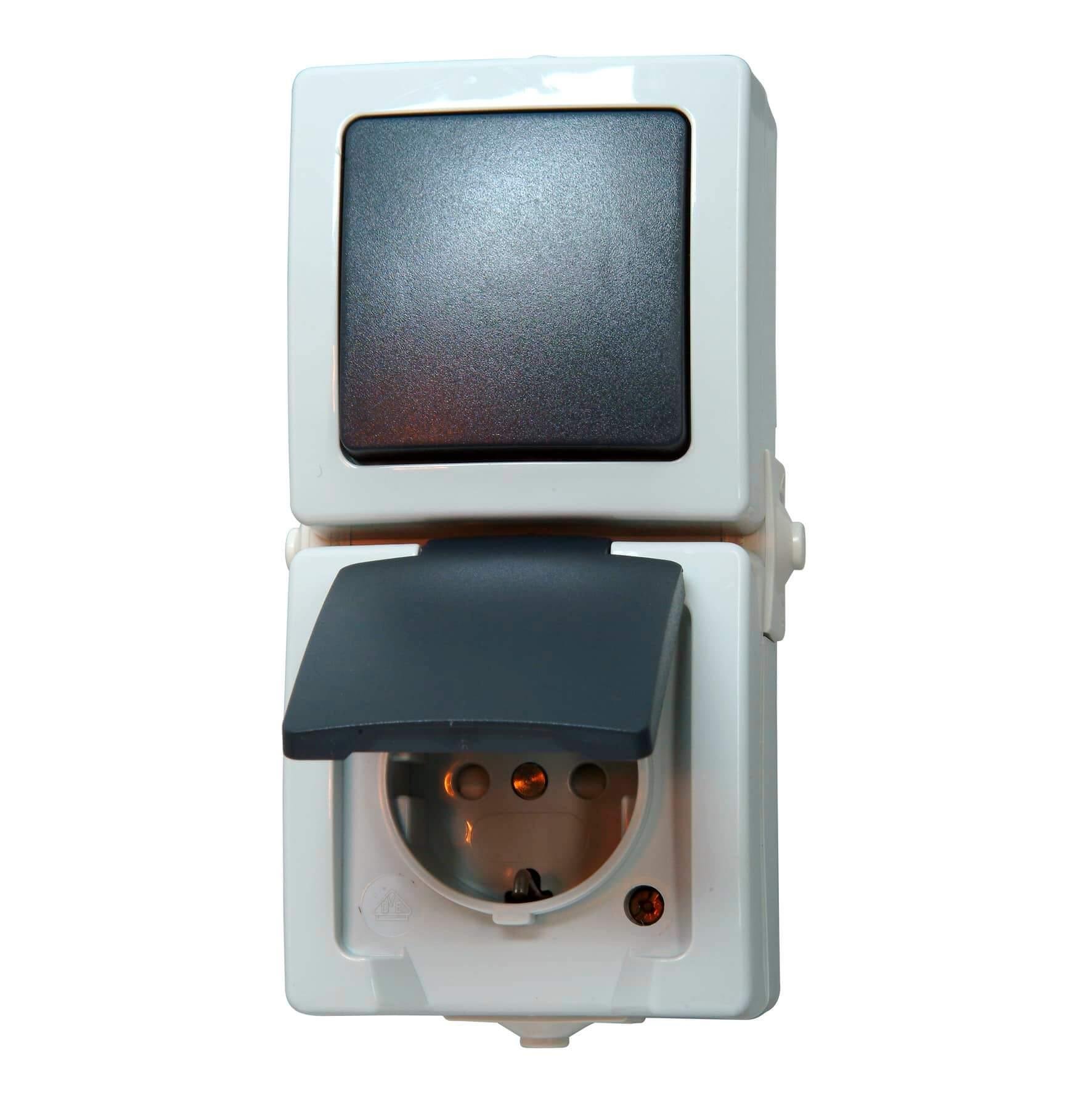 Kopp Nautic Aufputz Feuchtraum Universalschalter Aus-//Wechselschalter IP44 weiß