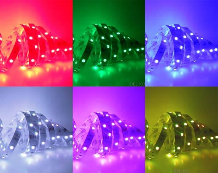 5m rgb led streifen wasserdicht led komplett set fb. Black Bedroom Furniture Sets. Home Design Ideas