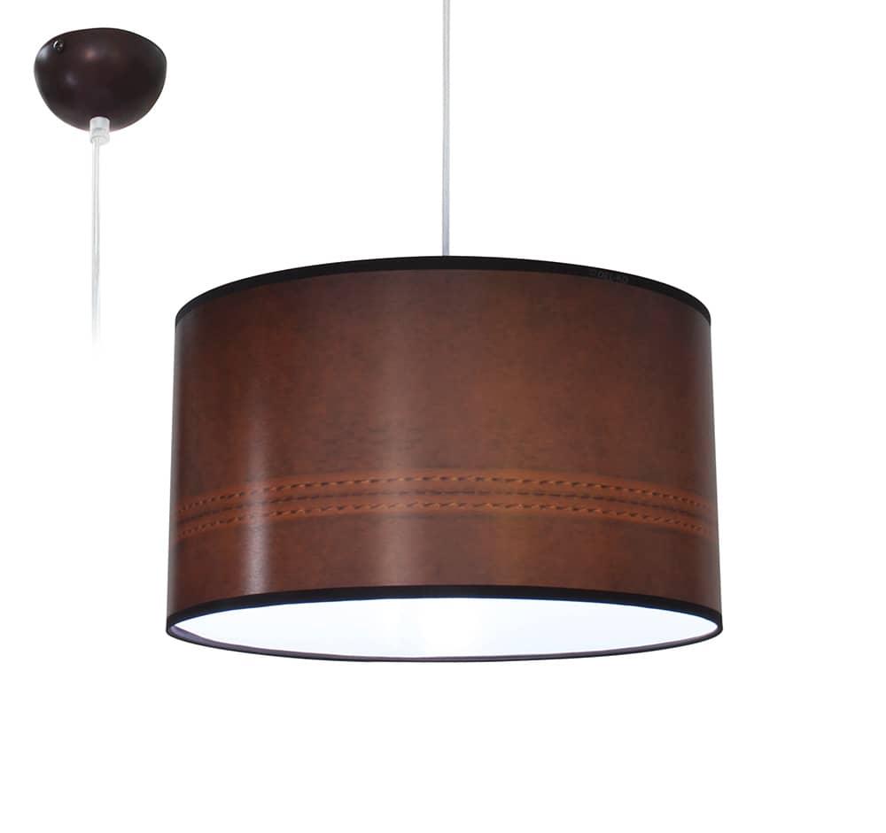 Bioledex aniso pendelleuchte leder design braun e27 35cm for Design versandhaus