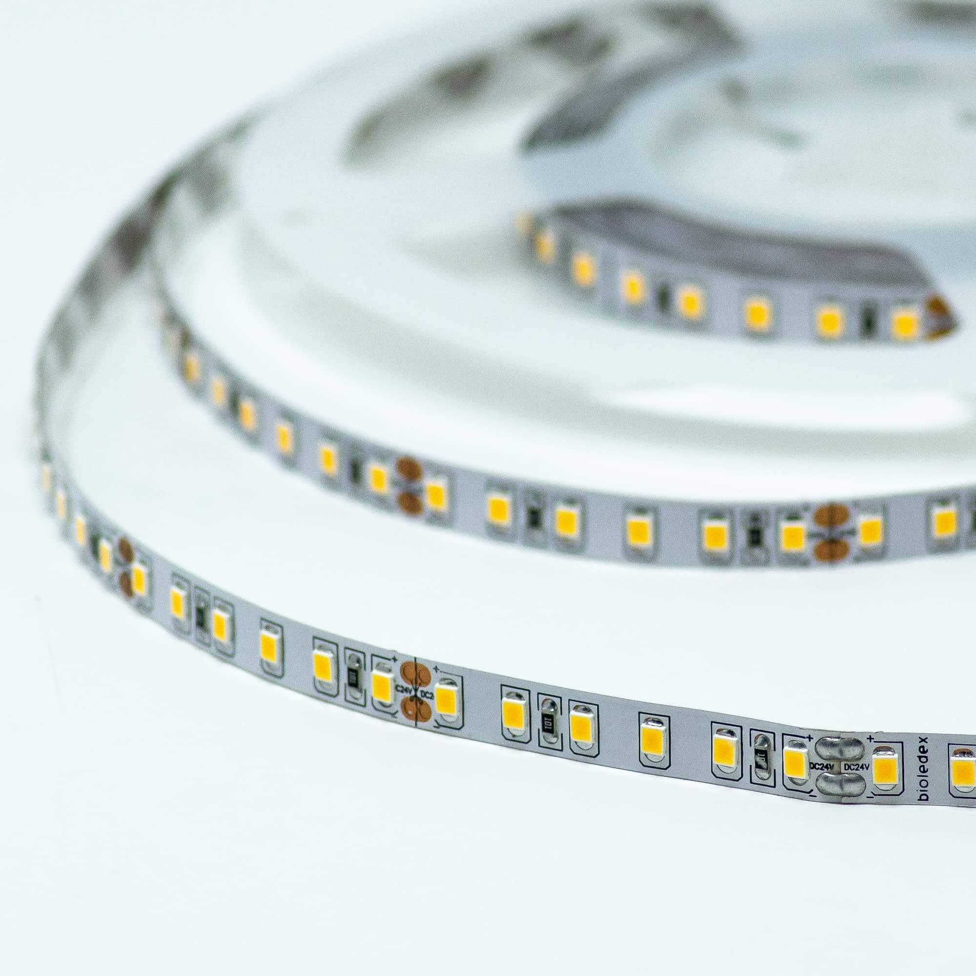 Bioledex LED Streifen 24V 5W//m 60LED//m 2700K 5m Rolle warmweiss Flex-Leiste