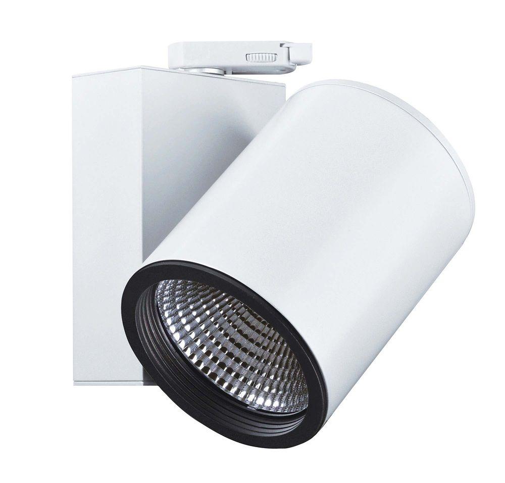 Deko Light Schienensystem 20 Phasen 2200V, Aaron, Warmweiß, Weiß matt,  mattiert 20