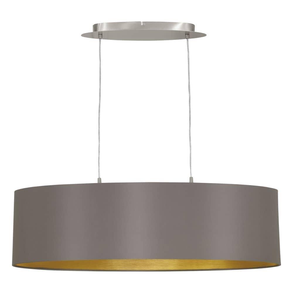 eglo pendelleuchte maserlo 78cm 2xe27 cappuccino gold 31614. Black Bedroom Furniture Sets. Home Design Ideas