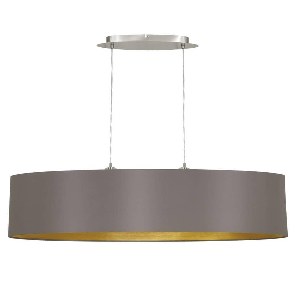 eglo pendelleuchte maserlo 100cm 2xe27 cappuccino gold 31619. Black Bedroom Furniture Sets. Home Design Ideas