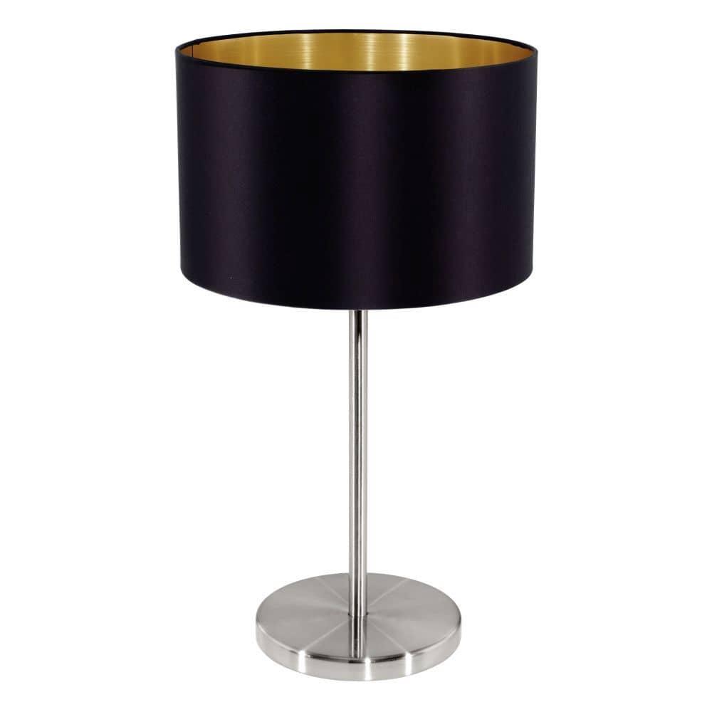 eglo tischleuchte maserlo e27 h42cm schwarz gold 31627 jetzt kaufen. Black Bedroom Furniture Sets. Home Design Ideas
