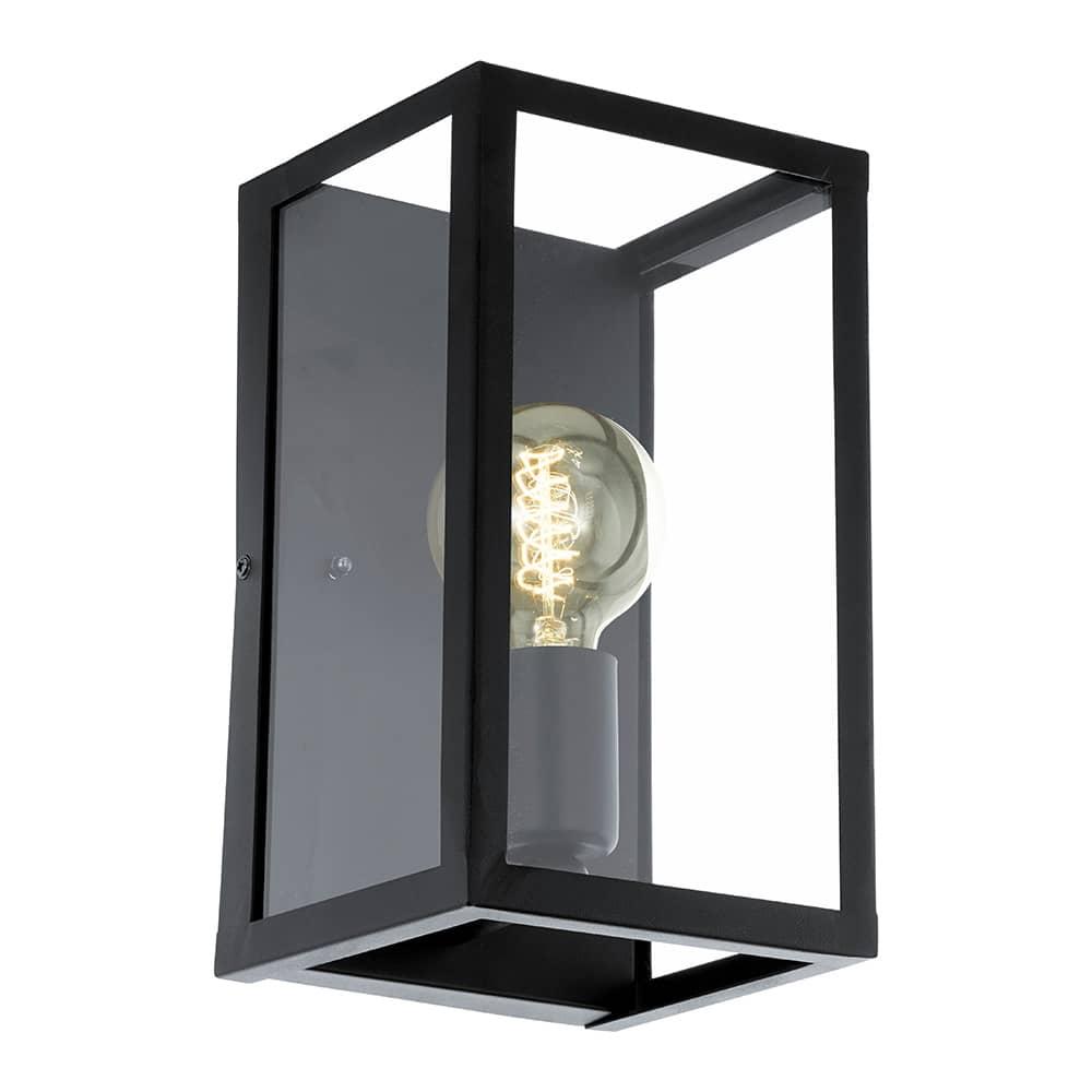 eglo 49394 wandleuchte charterhouse e27 schwarz. Black Bedroom Furniture Sets. Home Design Ideas