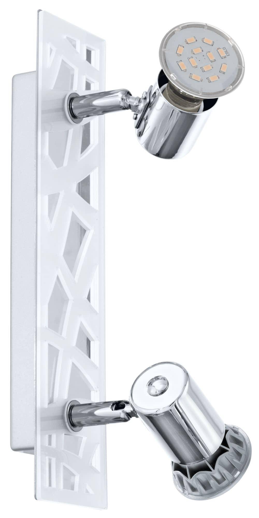 eglo 93176 daven 1 led spot 2x5w stahl kunststoff chrom satiniert. Black Bedroom Furniture Sets. Home Design Ideas