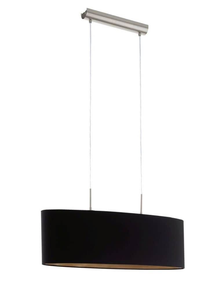 eglo h ngeleuchte pasteri l 75cm 2xe27 schwarz kupfer ebay. Black Bedroom Furniture Sets. Home Design Ideas