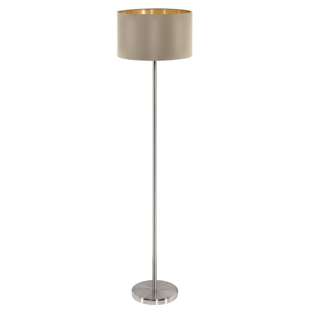 eglo stehlampe standleuchte maserlo 150cm taupe gold 95171. Black Bedroom Furniture Sets. Home Design Ideas