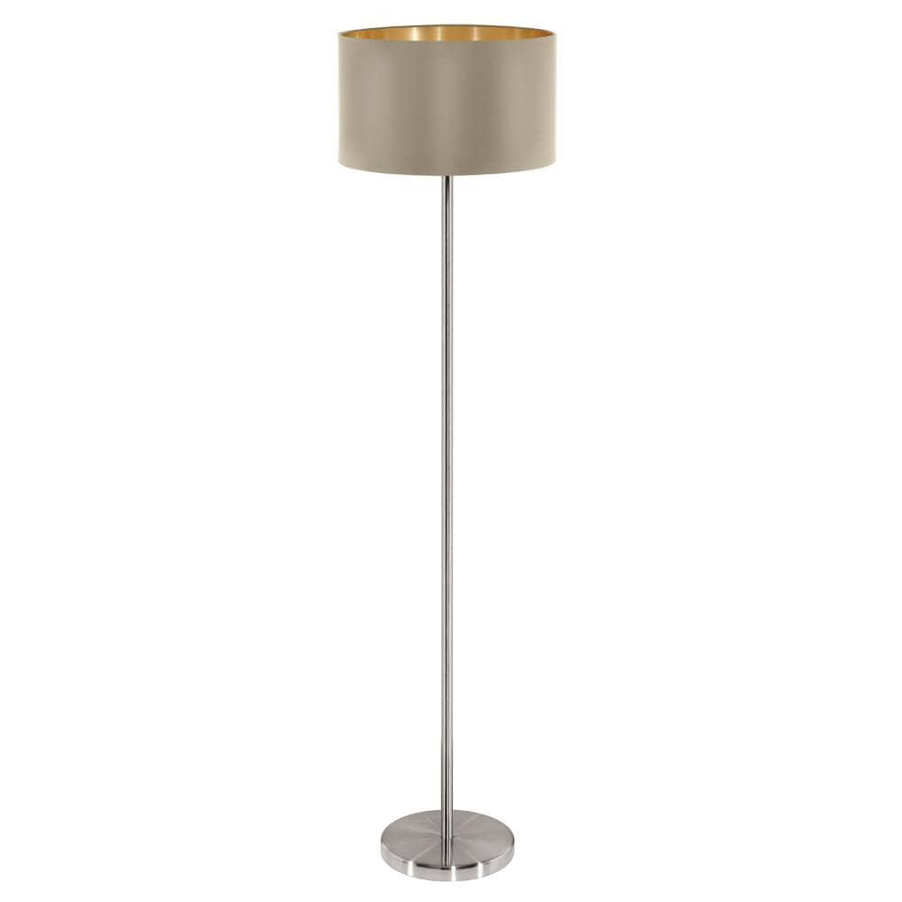 eglo stehleuchte maserlo e27 h150cm taupe gold. Black Bedroom Furniture Sets. Home Design Ideas