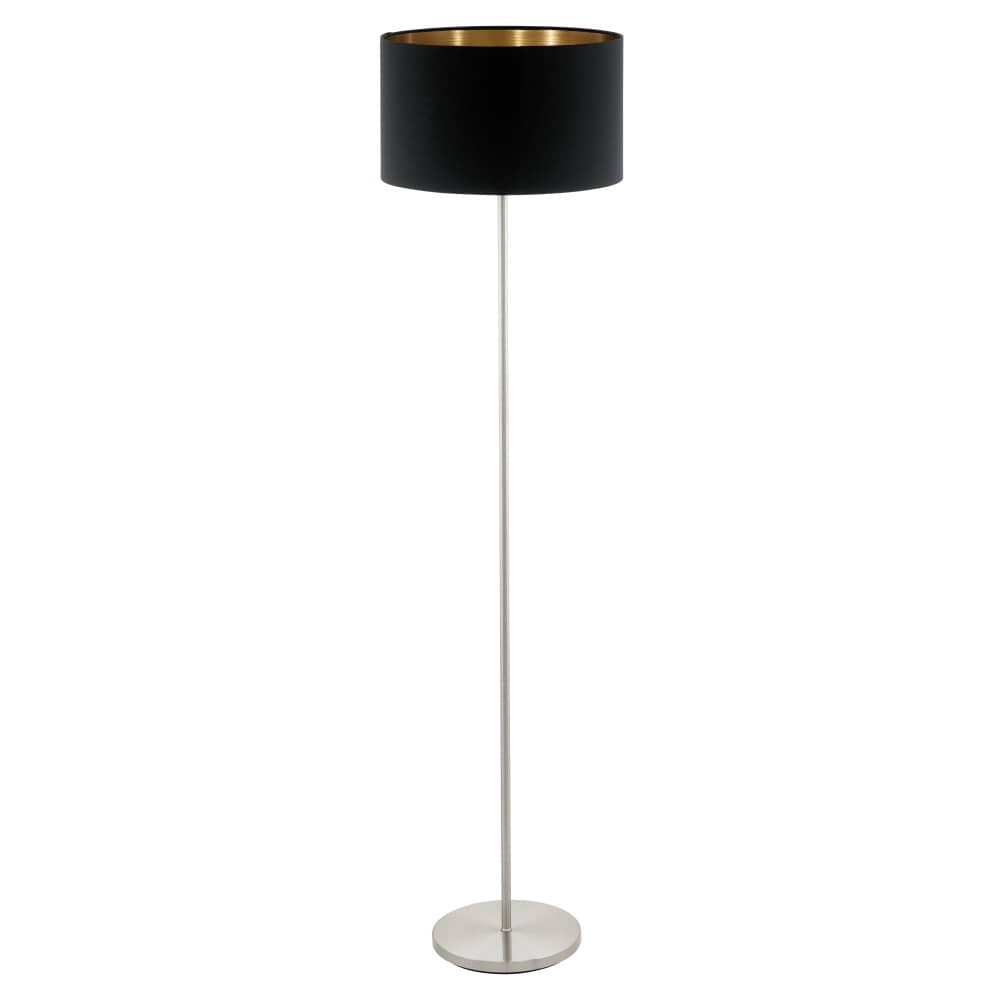 eglo stehleuchte pasteri e27 h 151cm schwarz kupfer mit. Black Bedroom Furniture Sets. Home Design Ideas
