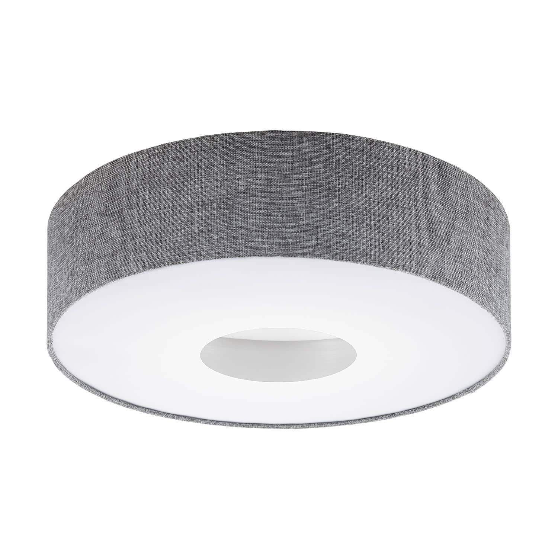 eglo 95346 romao led deckenleuchte 24w 50cm textil leinen grau. Black Bedroom Furniture Sets. Home Design Ideas