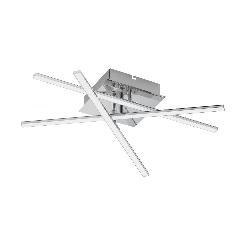 eglo 95567 lasana 1 led deckenleuchte 18w stahl chrom hier. Black Bedroom Furniture Sets. Home Design Ideas