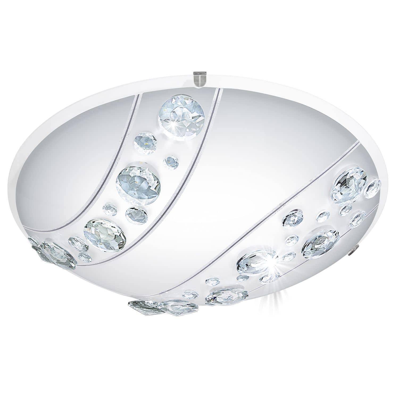 eglo 95576 nerini led deckenleuchte 16w 32cm glas kristallen. Black Bedroom Furniture Sets. Home Design Ideas