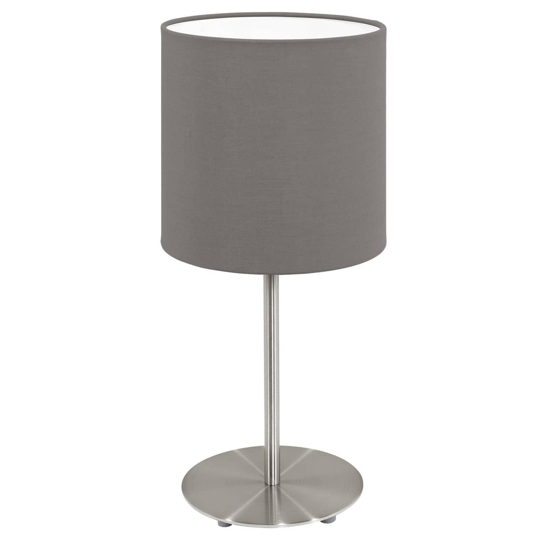 eglo 95727 pasteri tischleuchte e14 14cm stahl nickel matt cappuccino. Black Bedroom Furniture Sets. Home Design Ideas