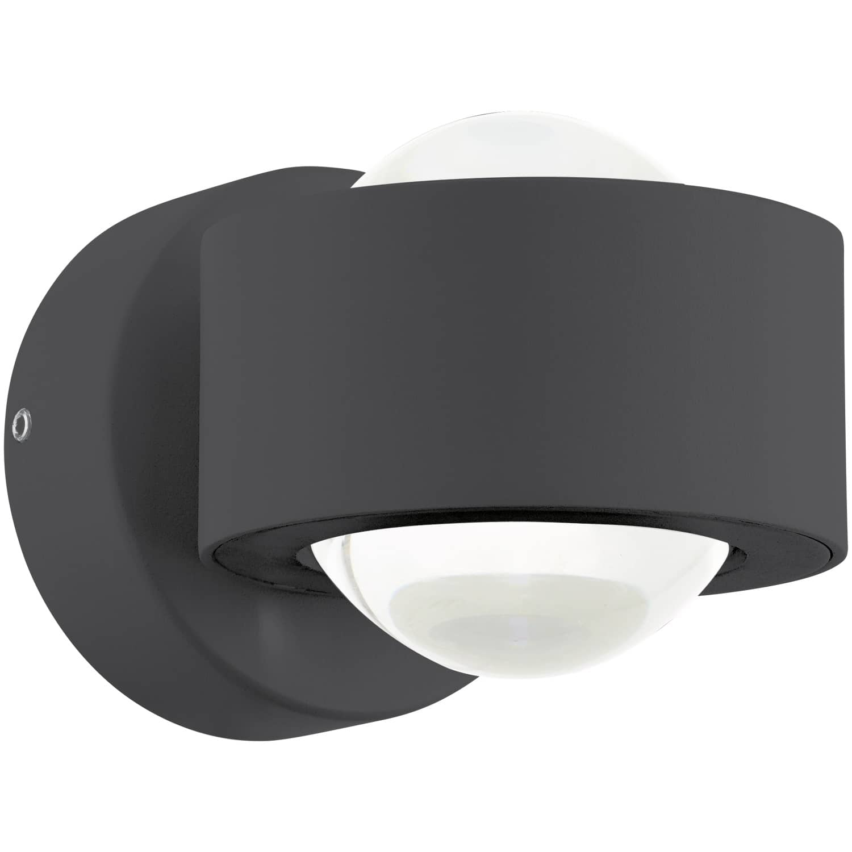 Eglo 96049 Ono 2 LED Wandspot 2x2,5W Anthrazit 2-wege-Linse